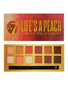 W7 life's a peach the sweetest of peaches eye colour palette