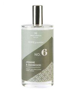 Wax lyrical england home scenter no. 6 jasmine & oudwood odour neutralising home & linen spray 100ml