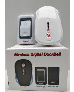 Wireless digital doorbell Model A EU IVI hvid