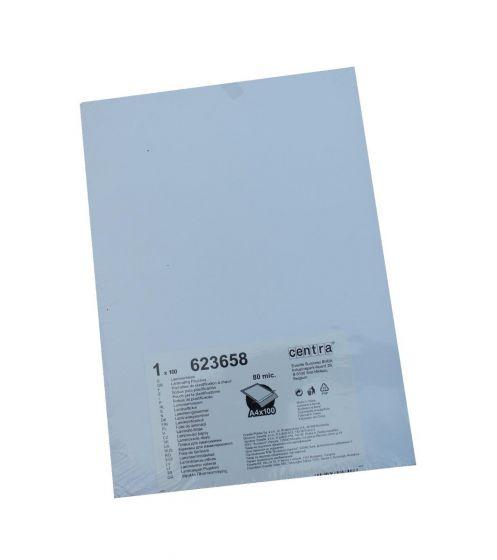 Centra 623658 Lamineringslommer  A4 80mic. 1 pakke med 100 lommer